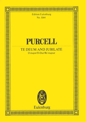 Te Deum and Jubilate PURCELL Partition Petit format - laflutedepan