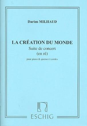 La création du monde -Suite - MILHAUD - Partition - laflutedepan.com