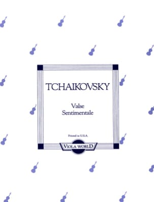Valse Sentimentale - Alto TCHAIKOVSKY Partition Alto - laflutedepan