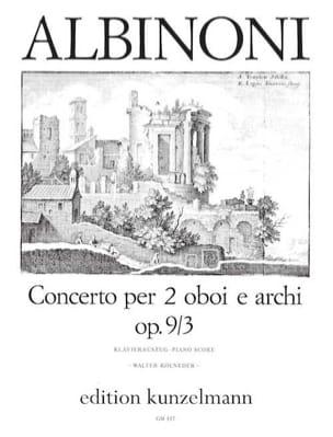 Concerto per 2 oboi op. 9 n° 3 -2 Oboen Klavier ALBINONI laflutedepan