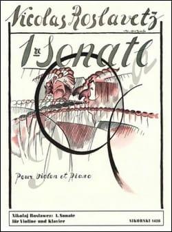 Sonate n° 1 - Violon piano Nikolai Roslawez Partition laflutedepan