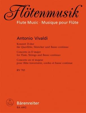 Konzert D-Dur RV 783 - Flöte Klavier VIVALDI Partition laflutedepan