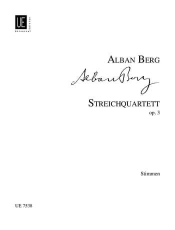 Streichquartett op. 3 - Stimmen - BERG - Partition - laflutedepan.com