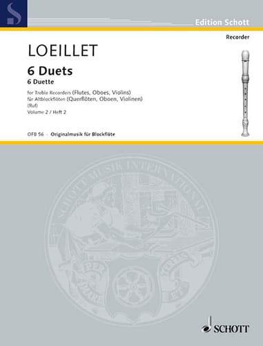 6 Duette - Bd 2 - 2 Altblockflöten - laflutedepan.com