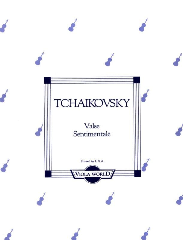 Valse Sentimentale - Alto - TCHAIKOVSKY - Partition - laflutedepan.com