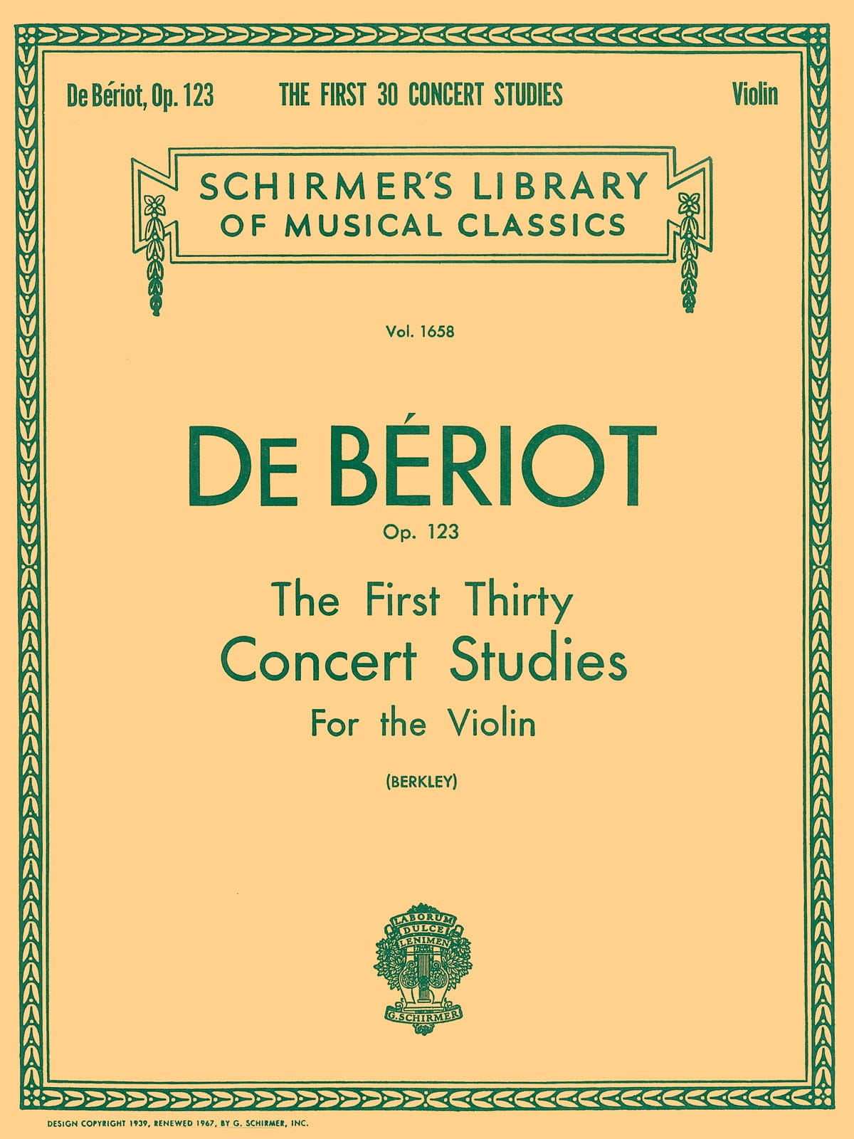 The first 30 concert studies op. 123 - BÉRIOT - laflutedepan.com