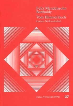 Vom Himmel hoch - Partitur - MENDELSSOHN - laflutedepan.com