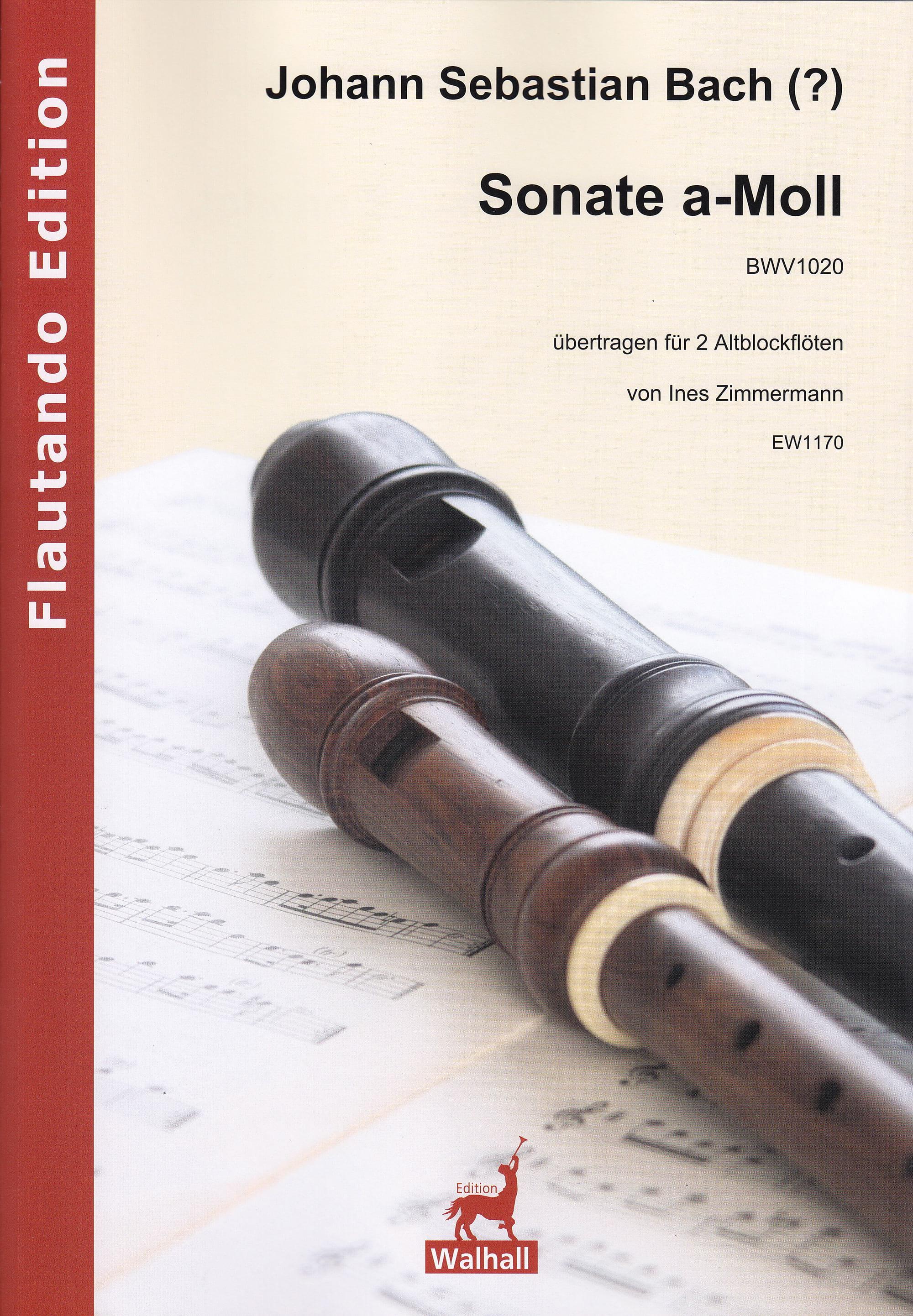 Sonate BWV 1020 - 2 Flûtes à Bec Alto - laflutedepan.com