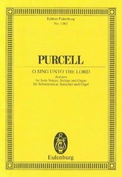 Singt, singet dem Herrn PURCELL Partition Petit format - laflutedepan