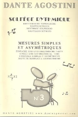 Solfège rythmique - Cahier n° 3 Dante Agostini Partition laflutedepan