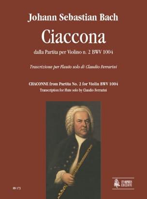 Ciaccona Dalla Partita N°2 - BWV 1004 BACH Partition laflutedepan