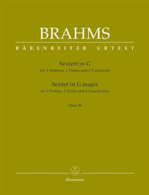 Sextuor Opus 36 en Sol Majeur BRAHMS Partition Sextuors - laflutedepan