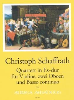 Quatuor en Mib Majeur Christoph Schaffrath Partition laflutedepan
