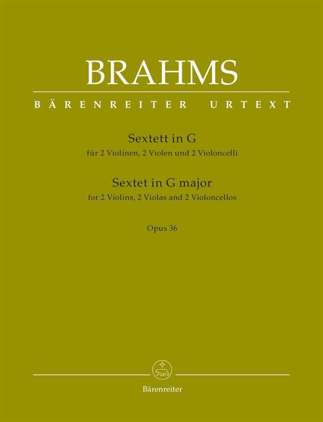 Sextuor Opus 36 en Sol Majeur - BRAHMS - Partition - laflutedepan.com