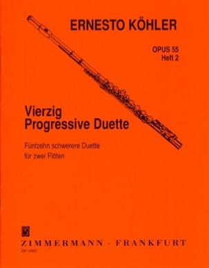 40 Progressive Duette Op. 55 - Heft 2 Ernesto KÖHLER laflutedepan