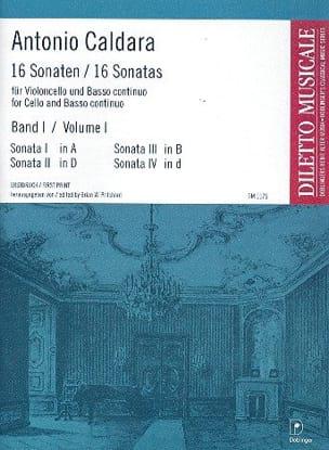 16 Sonates Volume 1 - CALDARA - Partition - laflutedepan.com