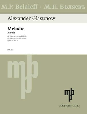 Alexandre Glazounov - Melody op. 20 n ° 1 - Partition - di-arezzo.co.uk
