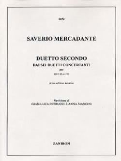 Duetto Secondo - 2 Flauti Saverio Mercadante Partition laflutedepan