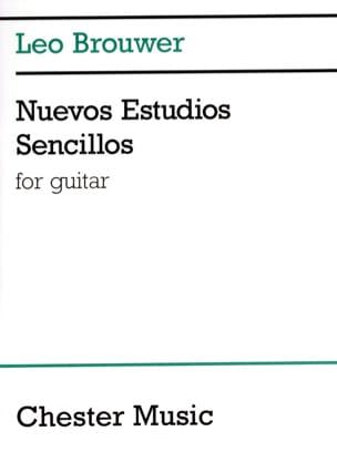 Nuevos Estudios Sencillos BROUWER Partition Guitare - laflutedepan
