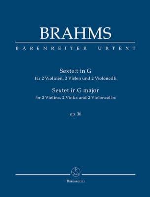 Sextuor Op. 36 en Sol Majeur BRAHMS Partition laflutedepan