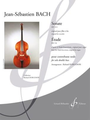 Sonate BWV 1013 / Étude BWV 598 BACH Partition laflutedepan