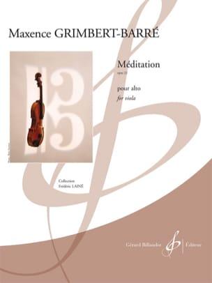 Méditation Maxence Grimbert-Barré Partition Alto - laflutedepan