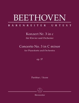 Concerto pour Piano n° 3, opus 37 - Conducteur BEETHOVEN laflutedepan