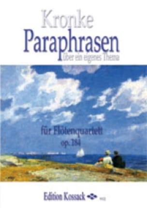 Paraphrases Op.184 - Emil Kronke - Partition - laflutedepan.com