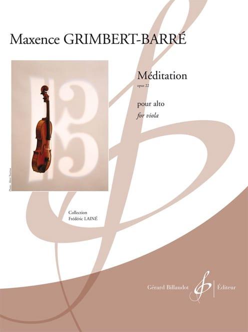 Méditation - Maxence Grimbert-Barré - Partition - laflutedepan.com