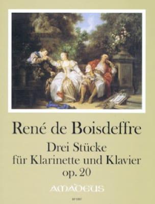 3 Pièces, opus 20 - René de Boisdeffre - Partition - laflutedepan.com