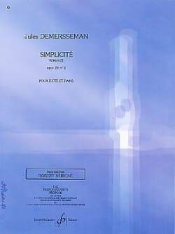 Simplicité op. 28 n° 2 Jules Demersseman Partition laflutedepan
