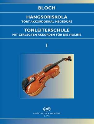 Tonleiterschule Op. 5 - Bd. 1 Jozsef Bloch Partition laflutedepan