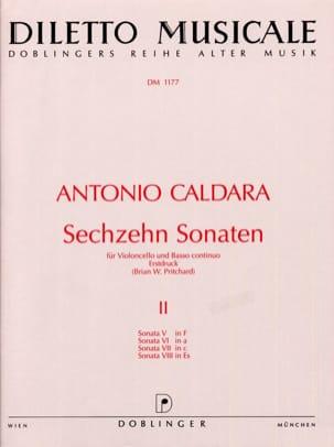 16 Sonaten Vol.2 CALDARA Partition Violoncelle - laflutedepan