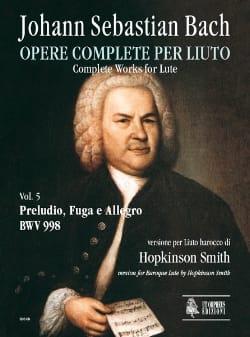 Prelude, Fugue et Allegro BWV 998 BACH Partition Luth - laflutedepan
