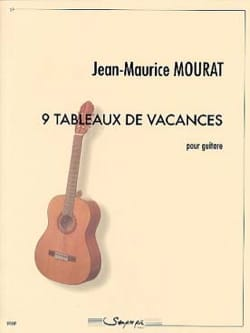 9 tableaux de vacances Jean-Maurice Mourat Partition laflutedepan