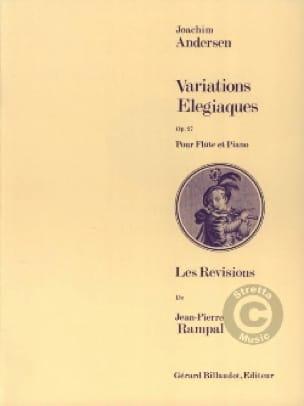 Variations élégiaques op. 27 - ANDERSEN - laflutedepan.com