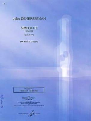 Simplicité op. 28 n° 2 - Jules Demersseman - laflutedepan.com