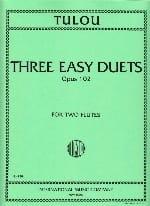 3 Easy duets op. 102 Jean-Louis Tulou Partition laflutedepan