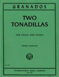 2 Tonadillas GRANADOS Partition Violoncelle - laflutedepan