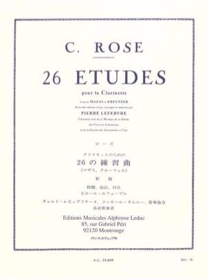 26 Etudes Cyrille Rose Partition Clarinette - laflutedepan
