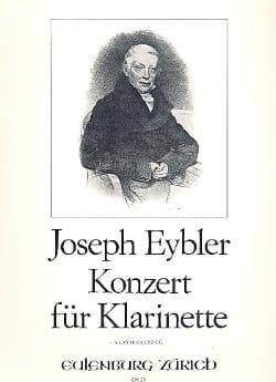 Konzert für Klarinette Joseph Eybler Partition laflutedepan