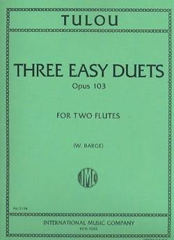 3 Easy duets op. 103 - 2 Flutes Jean-Louis Tulou laflutedepan