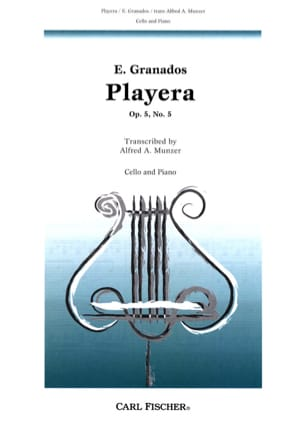 Playera op. 5 n° 5 GRANADOS Partition Violoncelle - laflutedepan