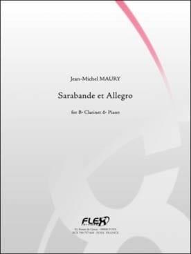 Sarabande et Allegro Jean-Michel Maury Partition laflutedepan