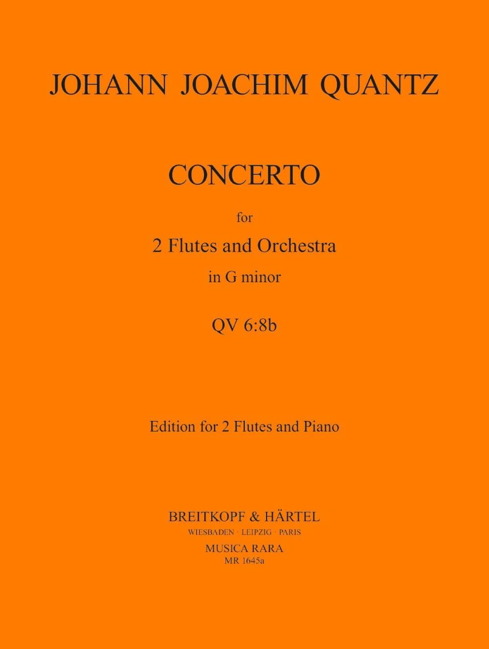 Concerto n° 1 in G minor -2 flutes piano - QUANTZ - laflutedepan.com