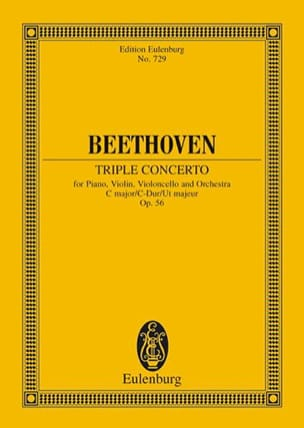 Tripel-Konzert C-Dur, Op. 56 BEETHOVEN Partition laflutedepan