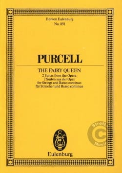 The Fairy Queen, Suites PURCELL Partition Petit format - laflutedepan