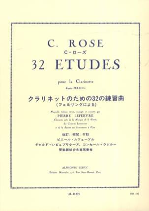 32 Etudes d'après Ferling Cyrille Rose Partition laflutedepan