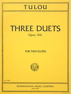 3 Duets op. 104 - 2 Flutes Jean-Louis Tulou Partition laflutedepan