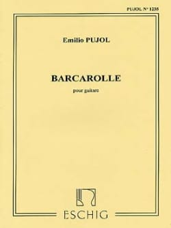 Barcarolle Emilio Pujol Partition Guitare - laflutedepan